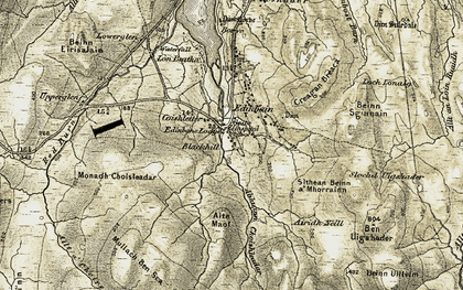 Old map of Airigh Neill in 1909