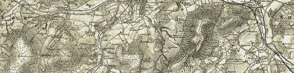 Old map of Wester Herricks in 1910