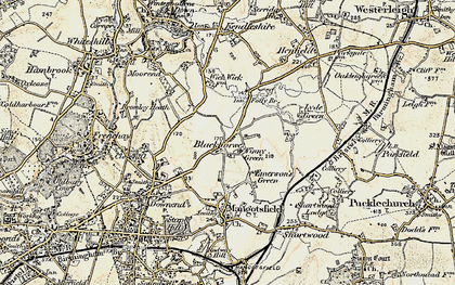 Old map of Blackhorse in 1899