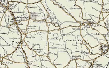 Old map of Blackjack in 1902-1903