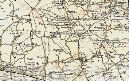 Old map of Blackleach in 1903-1904