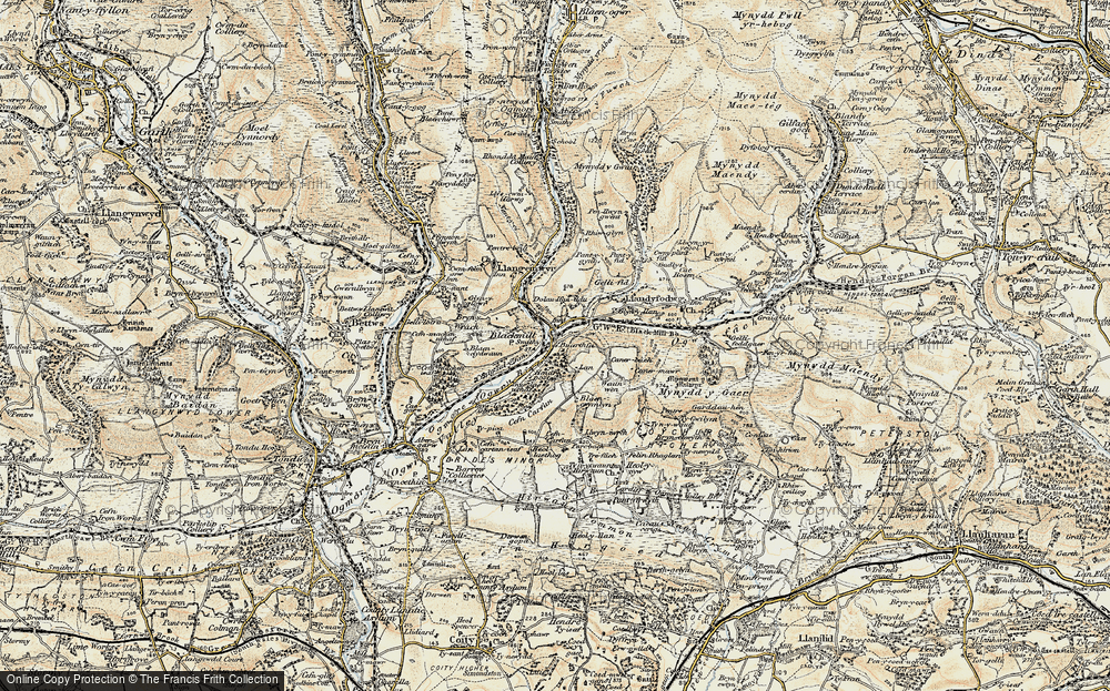Old Map of Blackmill, 1899-1900 in 1899-1900