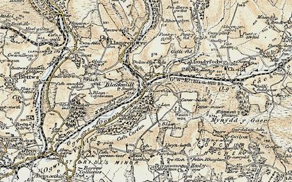 Old map of Blackmill in 1899-1900