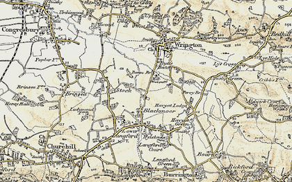 Old map of Blackmoor in 1899-1900