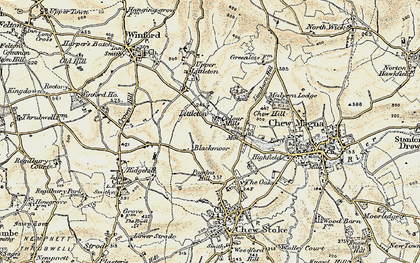 Old map of Blackmoor in 1899