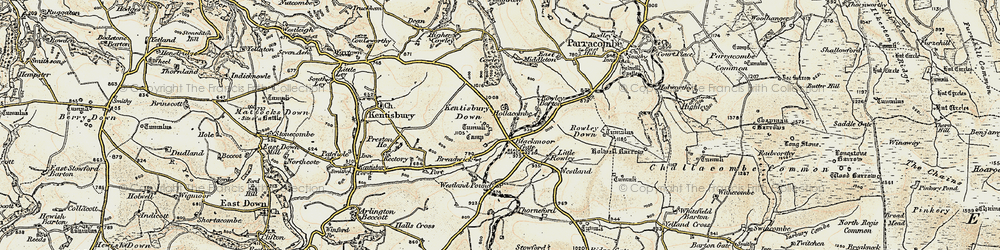 Old map of Wistlandpound in 1900