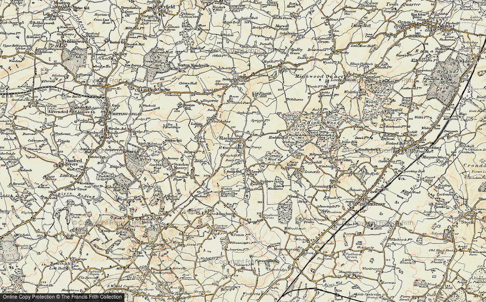 Old Map of Blackmore, 1898 in 1898