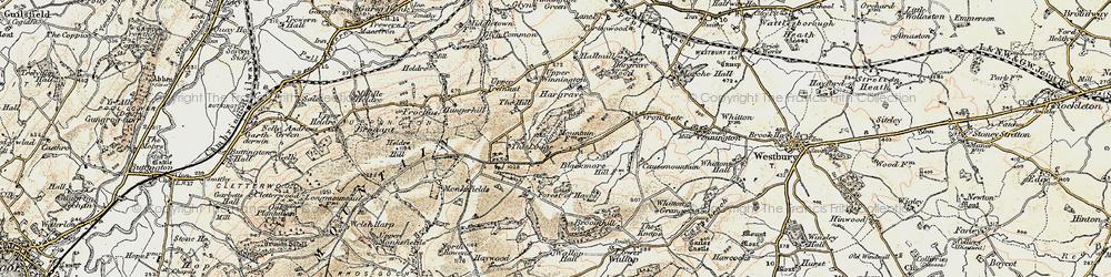 Old map of Winnington in 1902