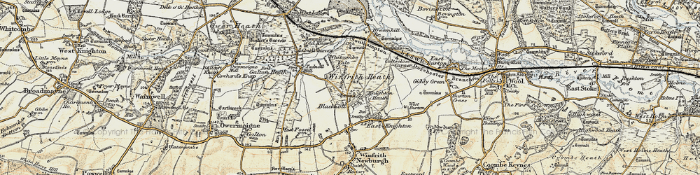 Old map of Whitcombe Vale in 1899-1909
