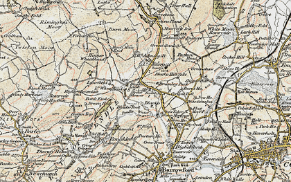 Old map of Blacko in 1903-1904
