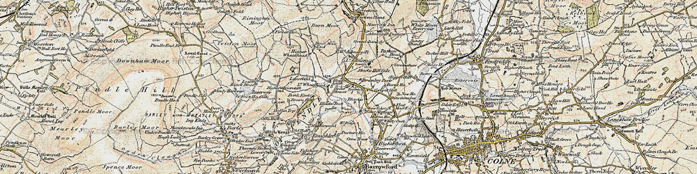 Old map of Admergill in 1903-1904