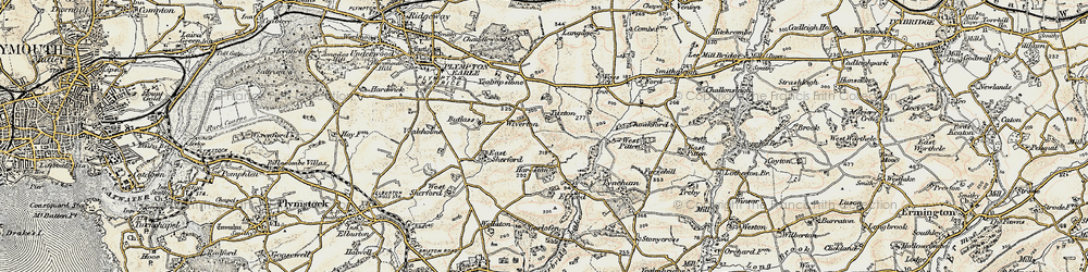 Old map of Wiverton in 1899-1900