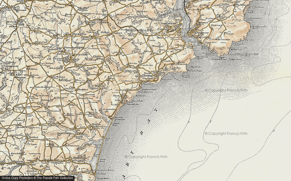 Old Map of Historic Map covering Asherne in 1899