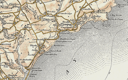 Old map of Asherne in 1899