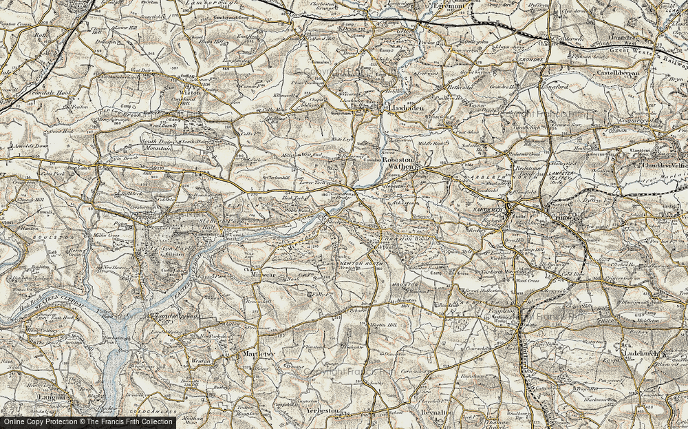 Old Map of Historic Map covering Atheston in 1901-1912
