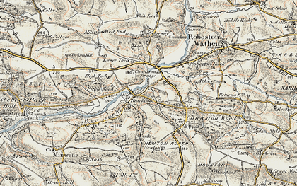 Old map of Atheston in 1901-1912