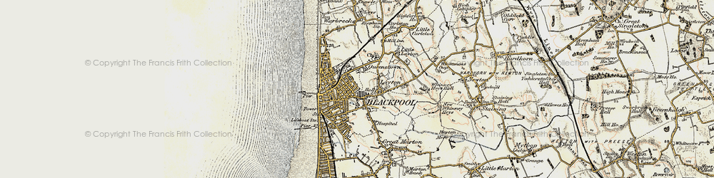 Old map of Blackpool in 1903-1904