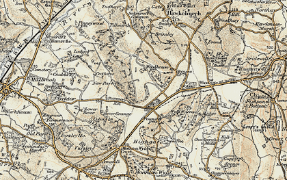 Old map of Wyld Warren in 1898-1899