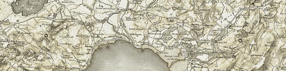 Old map of Allt Loch Shibhinn in 1906