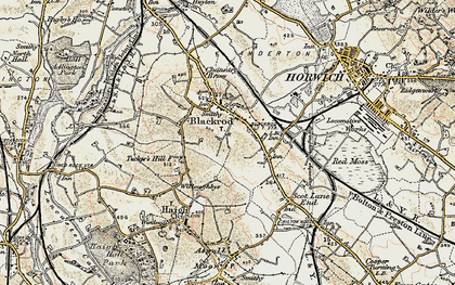 Old map of Blackrod in 1903