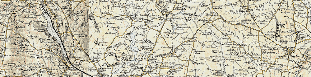 Old map of Tittesworth Reservoir in 1902-1903