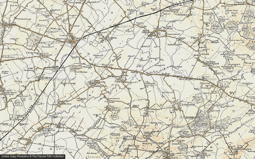 Old Map of Blackthorn, 1898-1899 in 1898-1899