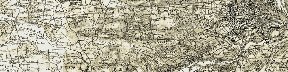 Old map of Westfield in 1908-1909