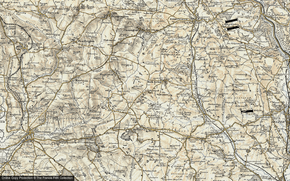 Old Map of Historic Map covering Sheep Hills in 1902