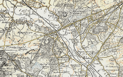 Old map of Blackwater in 1897-1909