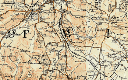 Old map of Whitecroft in 1899