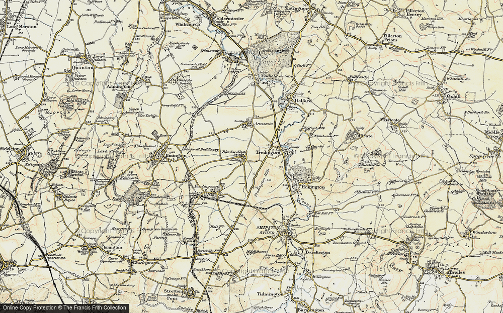 Old Map of Blackwell, 1899-1901 in 1899-1901