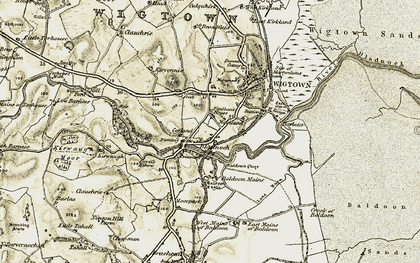 Old map of Baldoon Mains in 1905