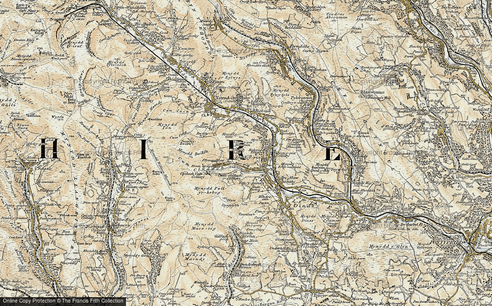 Old Map of Blaen Clydach, 1899-1900 in 1899-1900