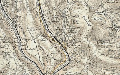 Old map of Blaenau-Gwent in 1899-1900