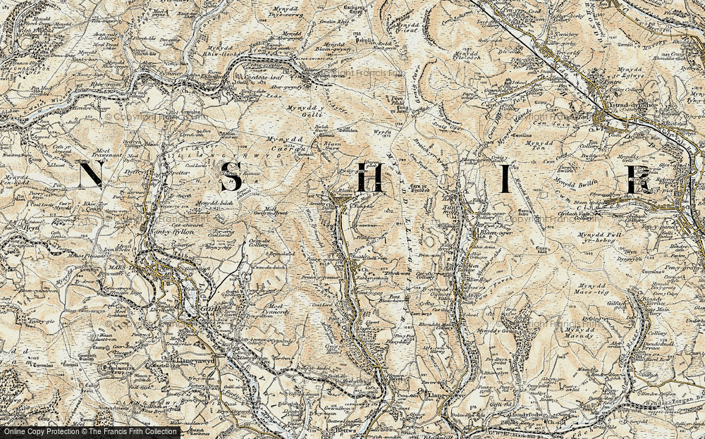 Old Map of Blaengarw, 1900 in 1900