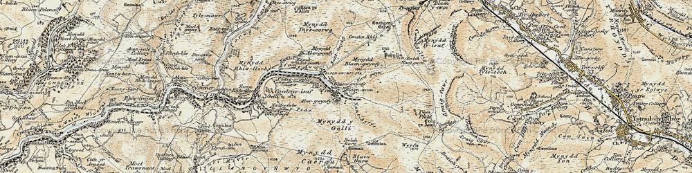 Old map of Blaengwynfi in 1900