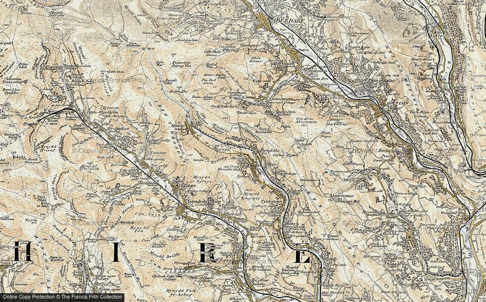 Old Map of Blaenllechau, 1899-1900 in 1899-1900