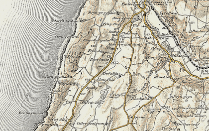 Old map of Blaenplwyf in 1901-1903
