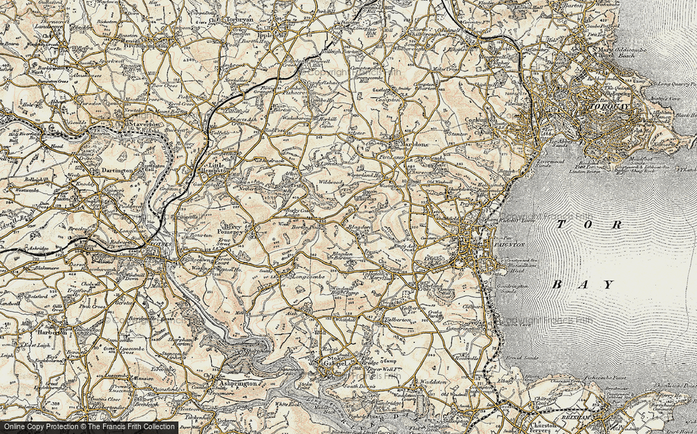Old Map of Historic Map covering Afton in 1899
