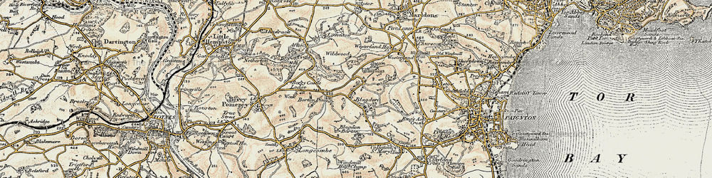 Old map of Afton in 1899