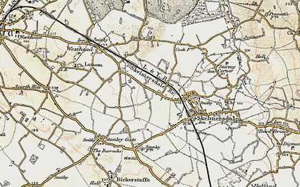 Old map of Blaguegate in 1902-1903