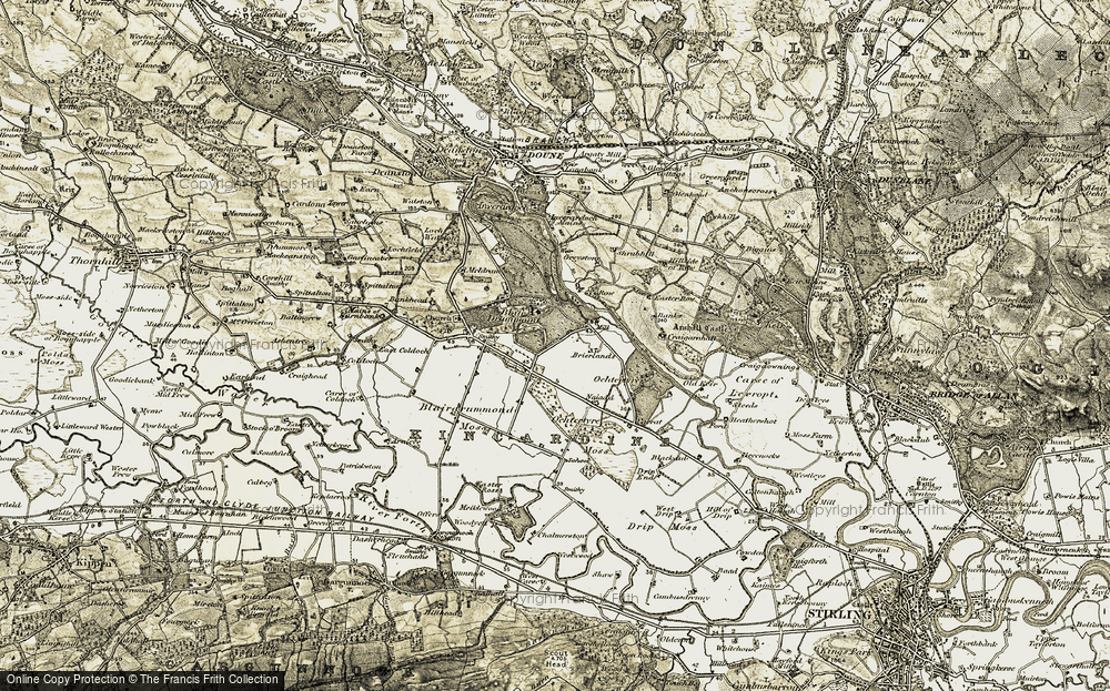 Old Map of Historic Map covering Woodlane in 1904-1907