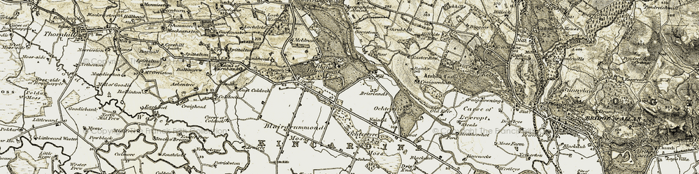 Old map of Woodlane in 1904-1907