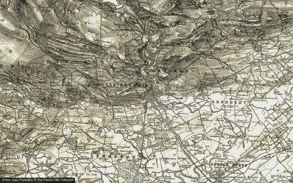 Old Map of Blairgowrie, 1907-1908 in 1907-1908
