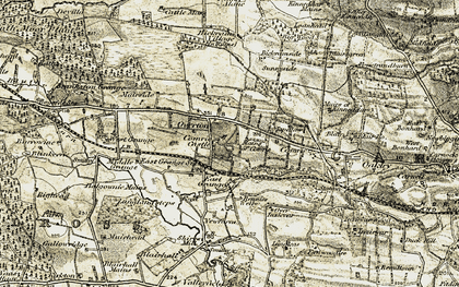 Old map of Balgownie Mains in 1904-1906