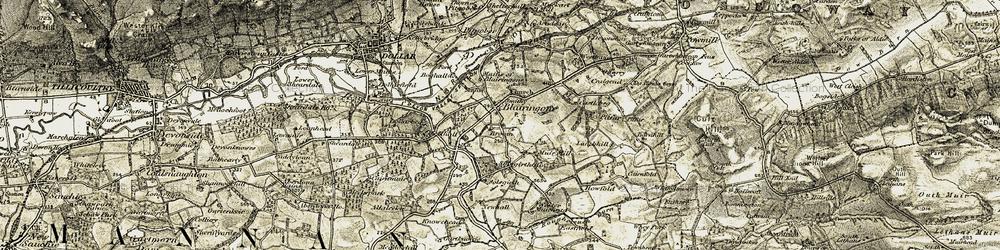 Old map of Whitegates in 1904-1908