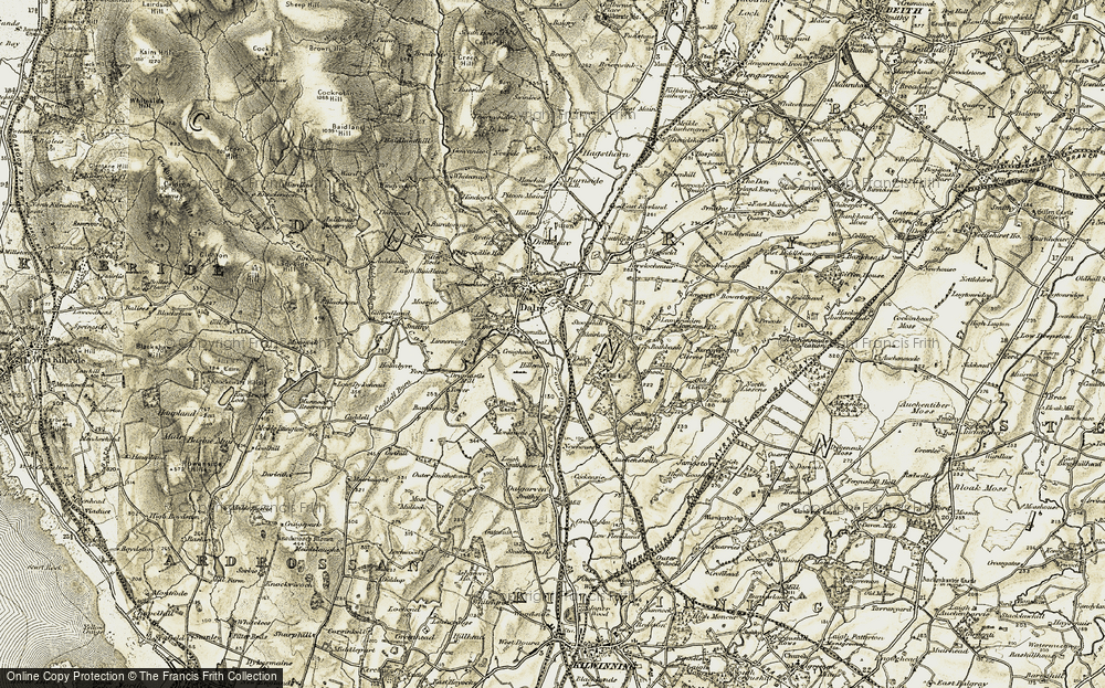 Old Map of Historic Map covering Bankhead in 1905-1906