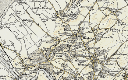 Old map of Blaise Hamlet in 1899