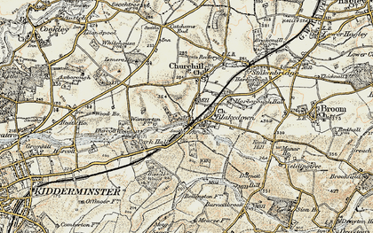 Old map of Blakedown in 1901-1902
