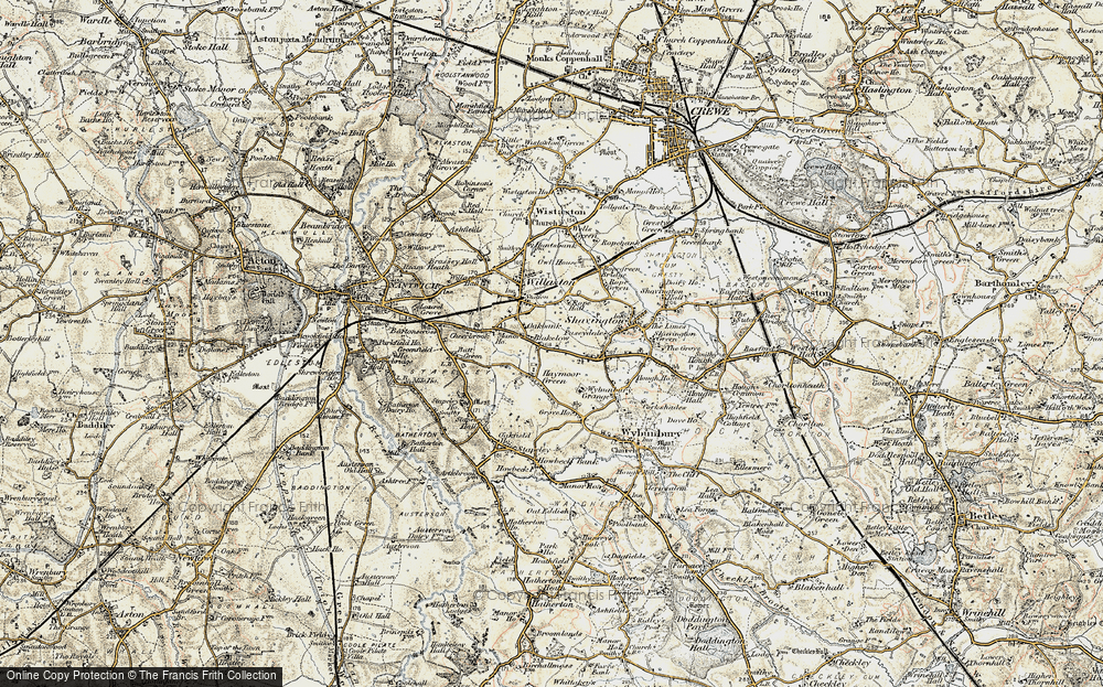 Old Map of Blakelow, 1902 in 1902